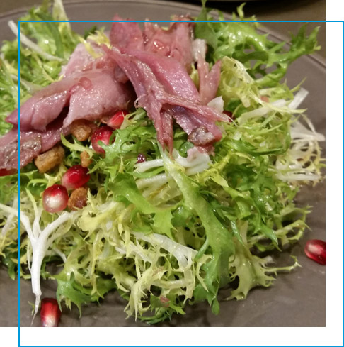 Spring salad with dijon vinaigrette