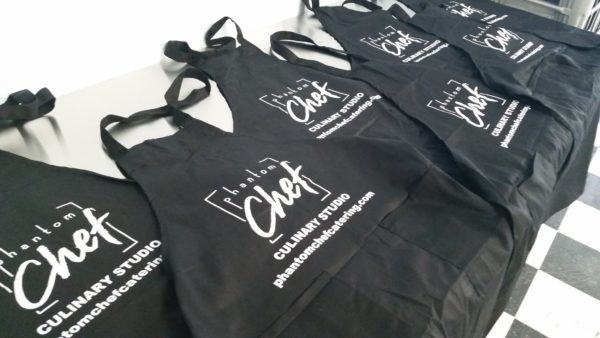 Black Phantom Chef aprons